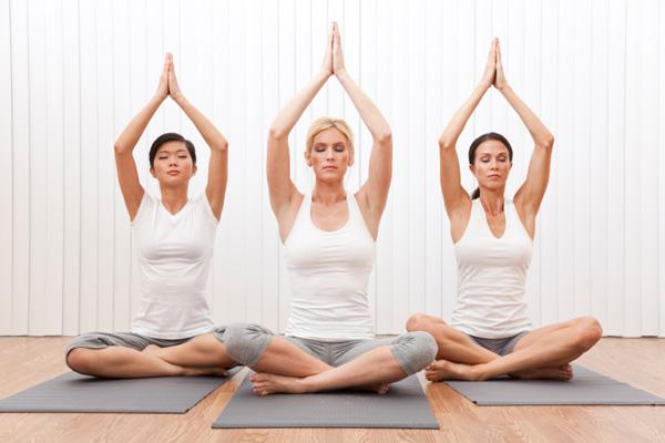 Класс йоги.