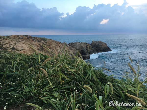 Закат на берегу Тихого океана.